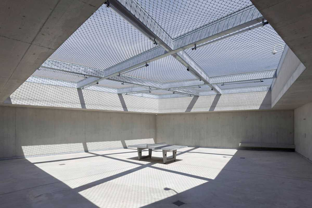 One of two atriums designed to give inmates breathing space