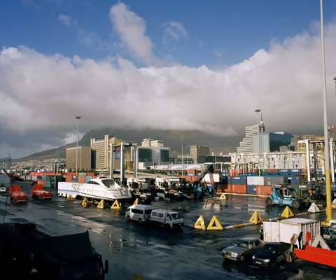 Shipping port in Cape Town