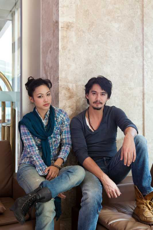 Thai actors Sajee Apiwong and Ananda Everingham