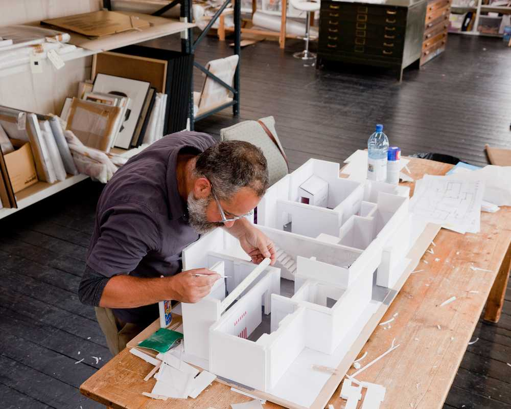Assembling a model for Exhibition #4
