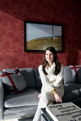 Megan Young, who designed the interior of local resident Nathanial Salter's apartment