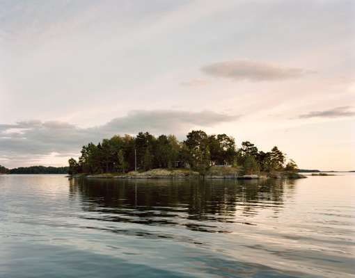 The island is a short boat journey into the northern Swedish archipelago
