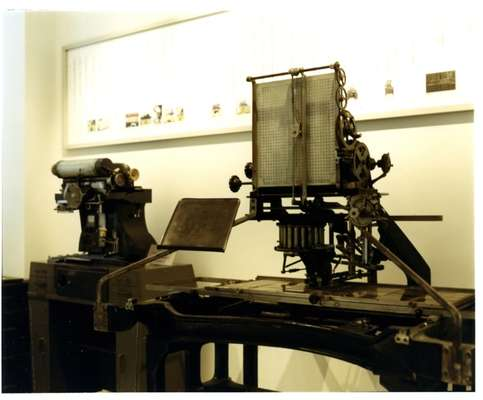 Old phototypesetter machines