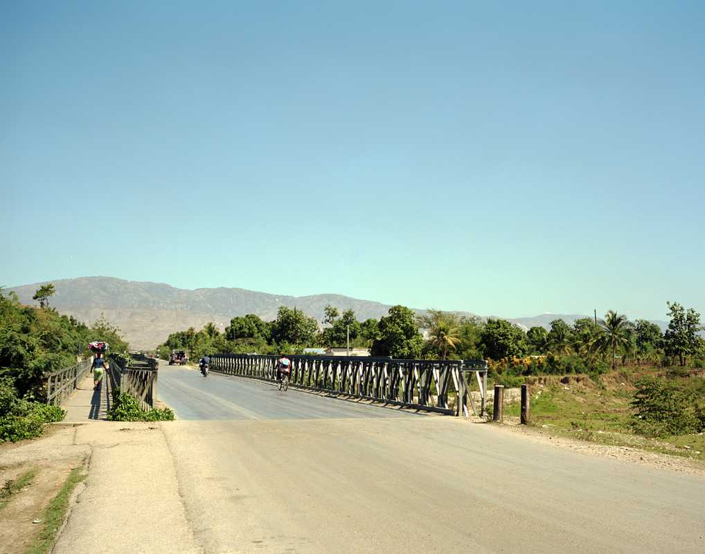 A bridge built by Brazilian engineers on the fringes of Port-au-Prince