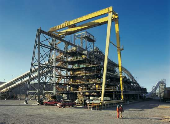 BHP Billiton's Spence Copper mine in northern Chile