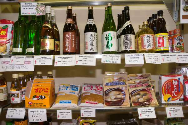 Japanese drinks and snacks