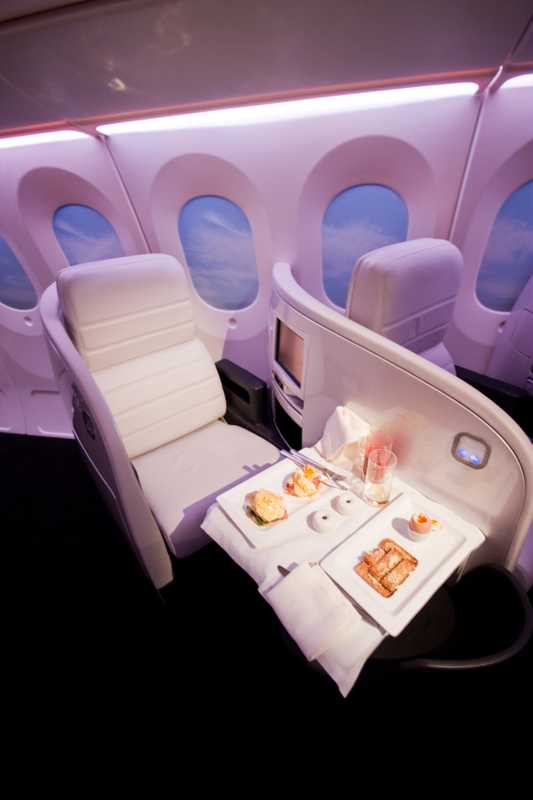 Seating in Business Class