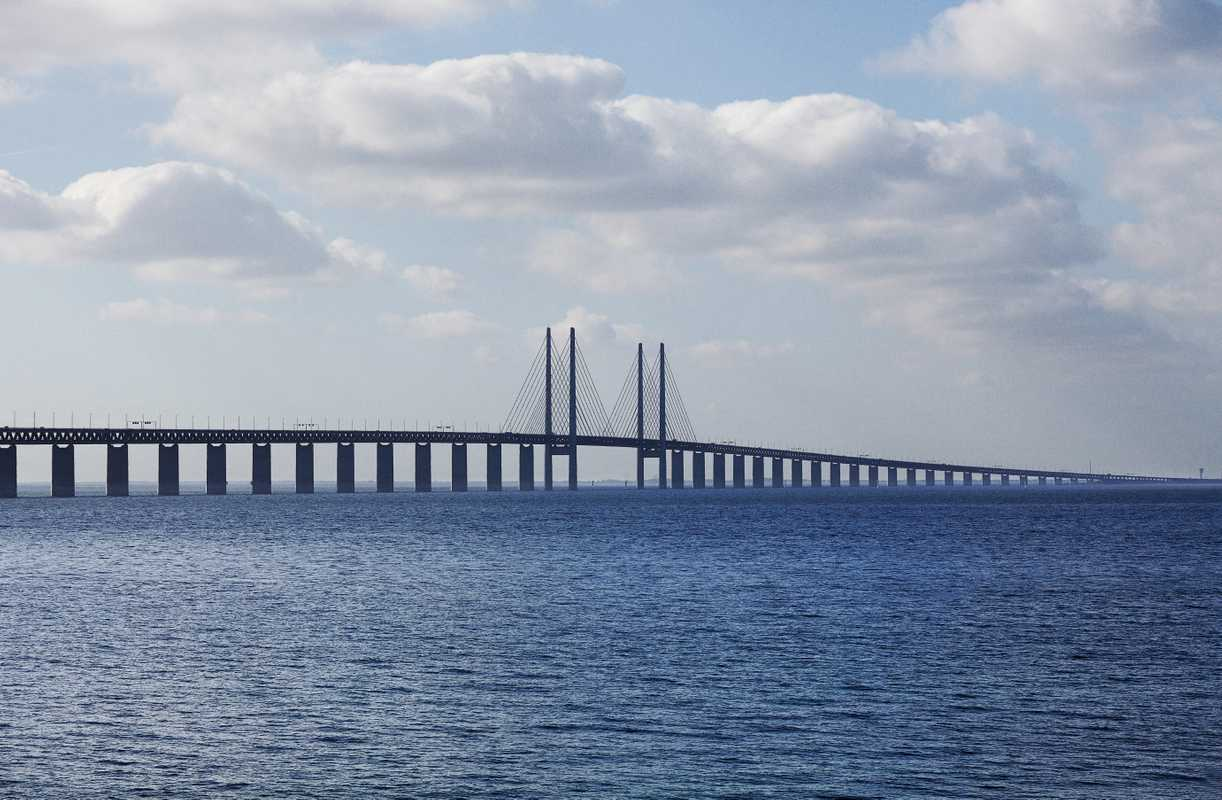The Øresund bridge seen from Malmö side