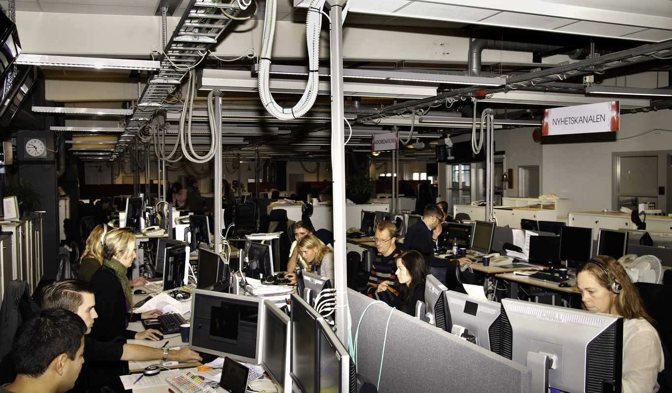 Newsroom at TV4