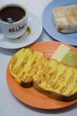 French toast and kaya from Killiney Kopitiam