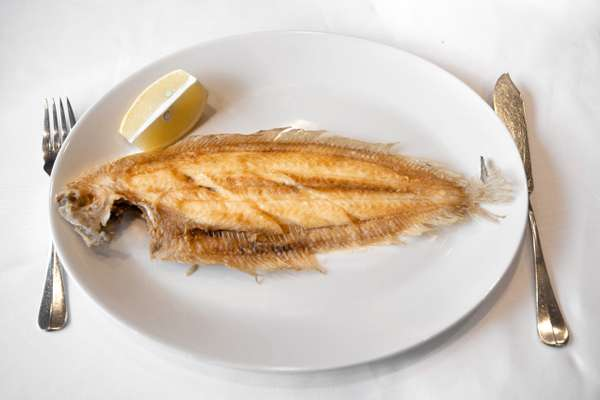 Dover sole, cooked simply