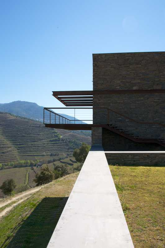 Quinta de Napoles winery on the Douro Valley hillside, Portugal