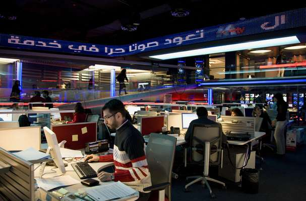 M TV newsroom