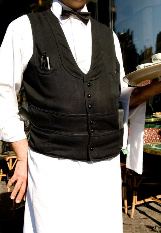 Waiter in uniform