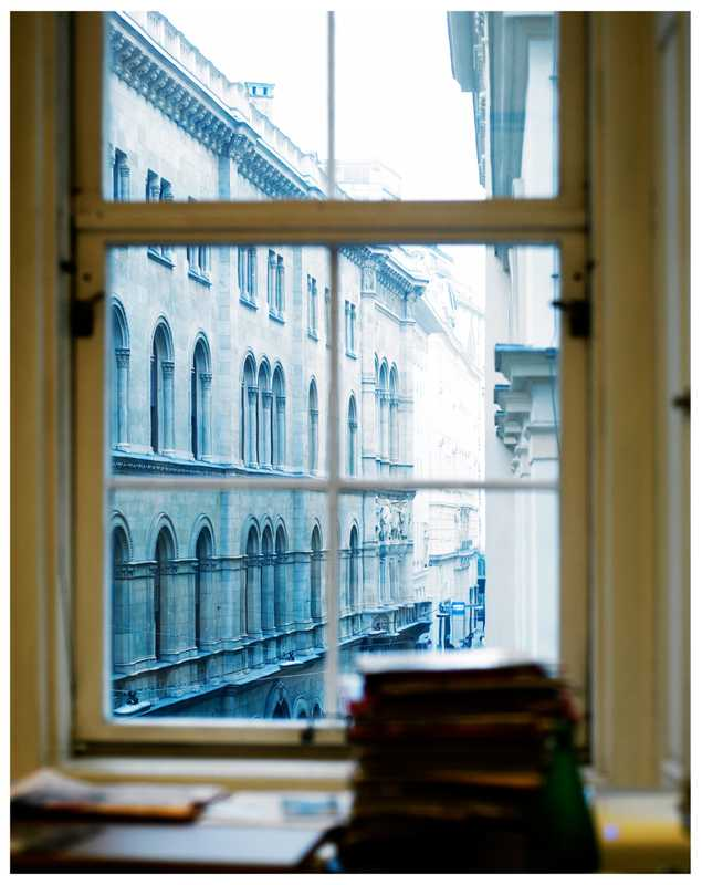 View over Vienna Herrengasse from Bronner's office