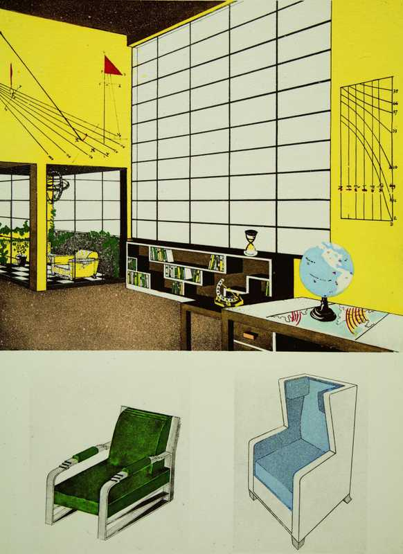 Pochoir prints on show at the New York School of Interior Design