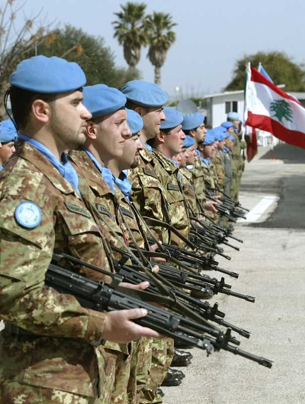 UN Italian peacekeeping troops in Lebanon