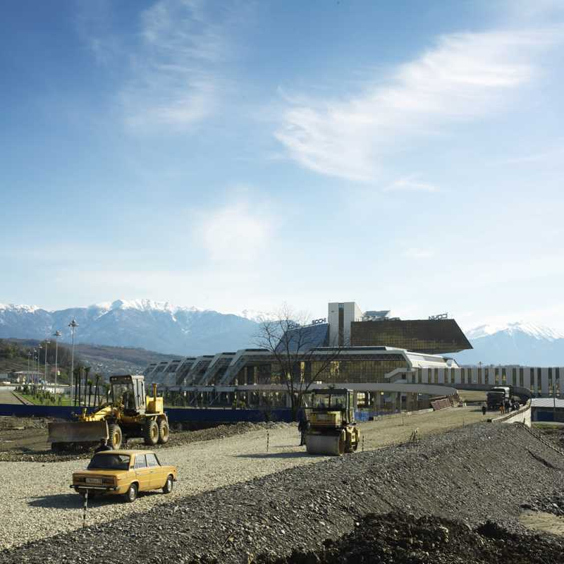 Sochi's new airport terminal, in construction