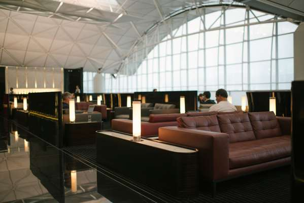 Cathay Pacific first-class lounge