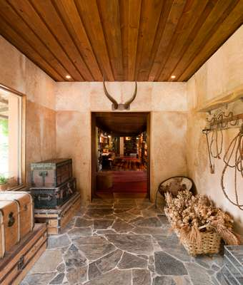 Rustic chic reception lobby