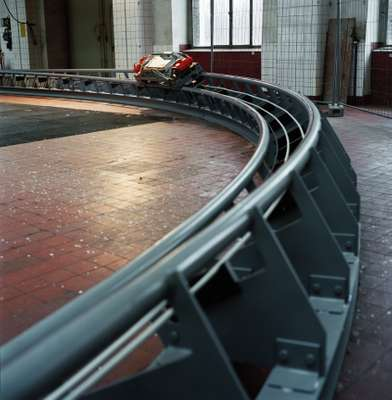 Test model on the track