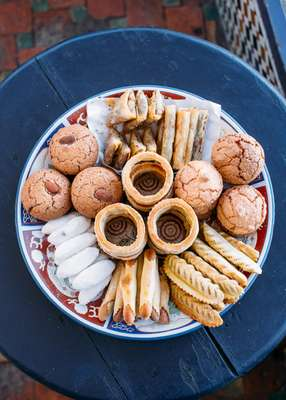 Traditional Moroccan sweets in Rabat