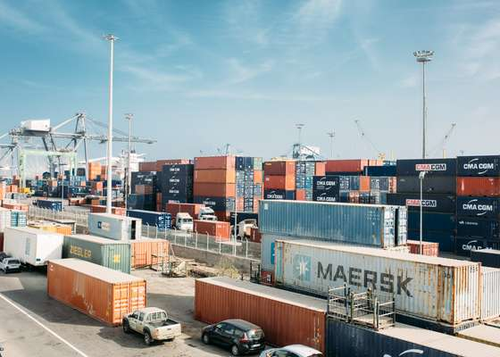 Shipping containers at Casablanca's port