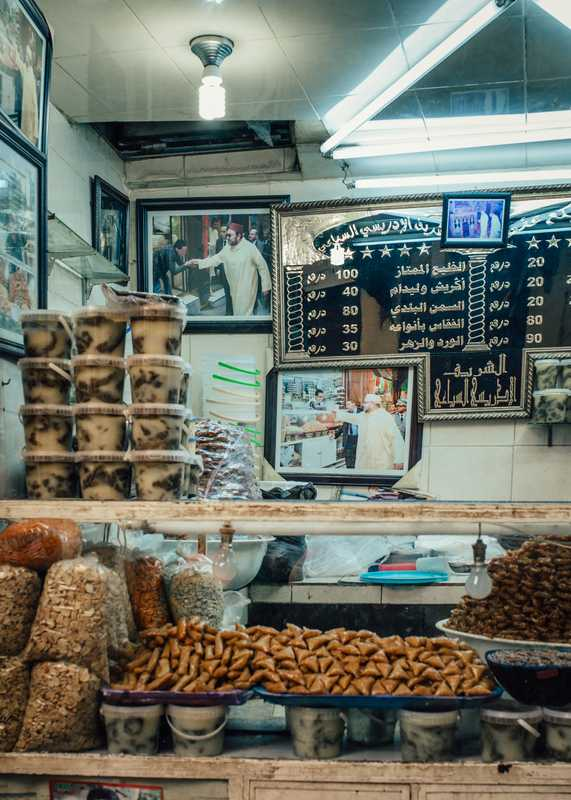 Snack bar in the souk in Fes