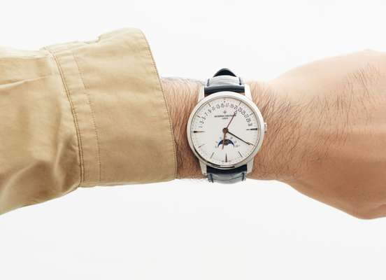 Shirt by Markaware from Parking, watch by Vacheron Constantin