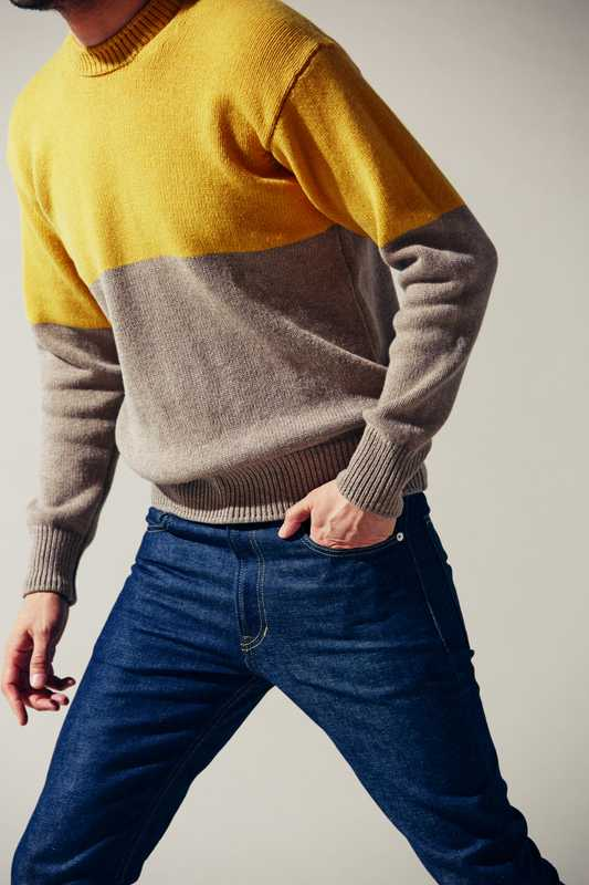 Jumper by Country Of Origin from Ships, jeans by MisterGentleman from The Contemporary Fix