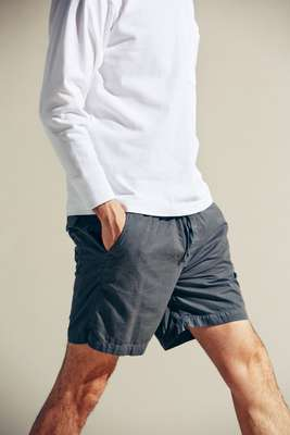 T-shirt by Traditional Weatherwear, shorts by Save Khaki United