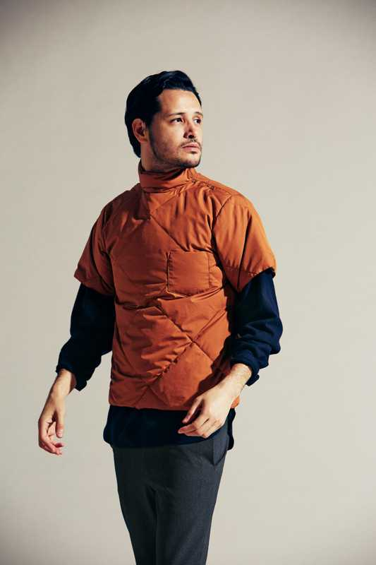 Down jacket by Kaptain Sunshine, shirt by Graphpaper, trousers by Yaeca from Yaeca Apartment Store