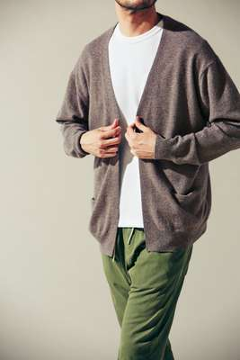 Cardigan by  Comoli, t-shirt by MisterGentleman from The Contemporary Fix, trousers by Bassike
