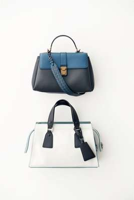 Bags by Bottega Veneta (top) and Giorgio Armani