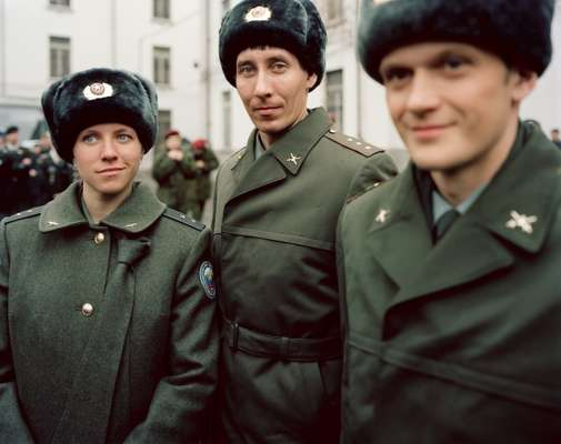 Russian athletes in uniform