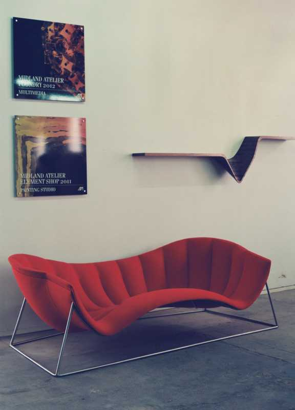 Jon Goulder's Calypso lounger and Form wall shelf