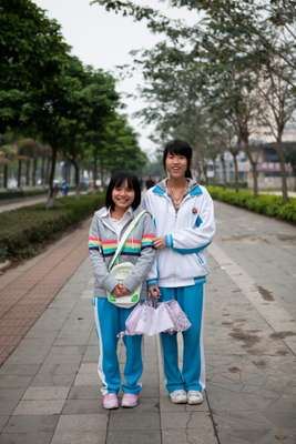 Schoolgirls in Haikou