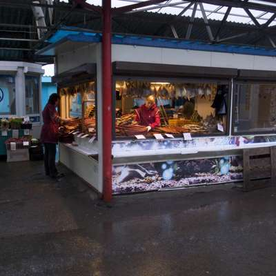 A stall at the market in Petropavlovsk