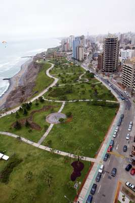 Malecon park in Lima's Miraflores district