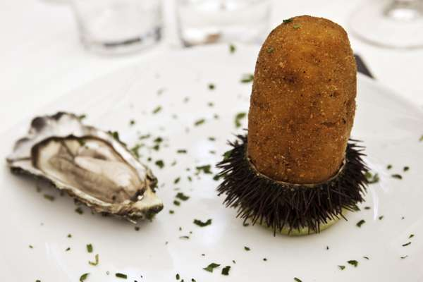 'Arancina', filled with  seafood and risotto