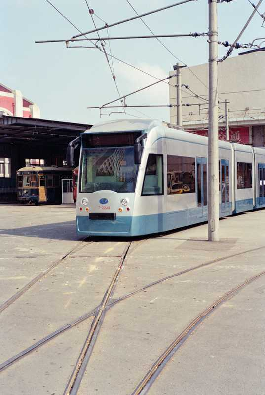 Light rail trams run on original trolley lines