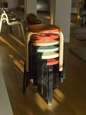Stool 60s by Alvar Aalto (designed in 1933)