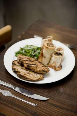 Bone marrow and parsley salad