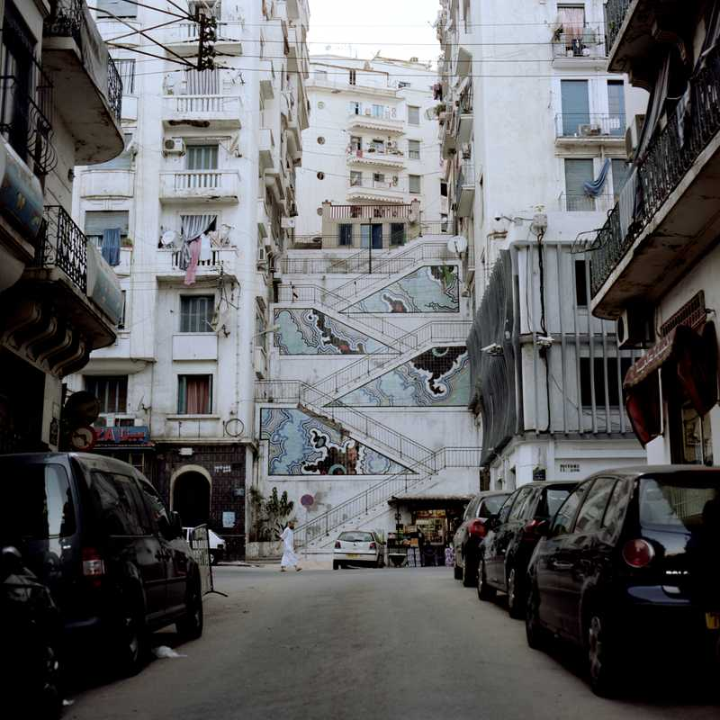 Algiers' hilly topography makes crossing the city a stair-climbing workout