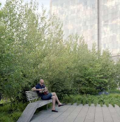 Sitting on the High Line