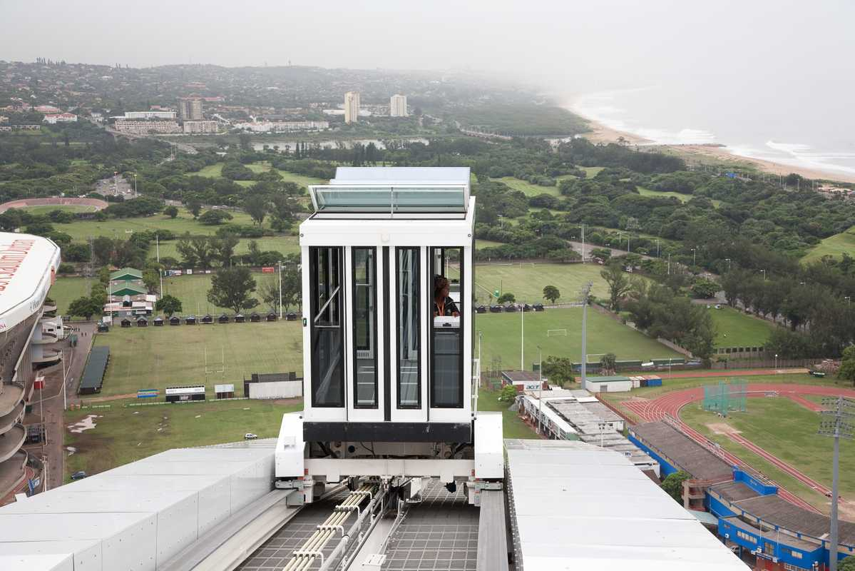 The arch over Durban's Moses Mabhida stadium has a funicular for tourists