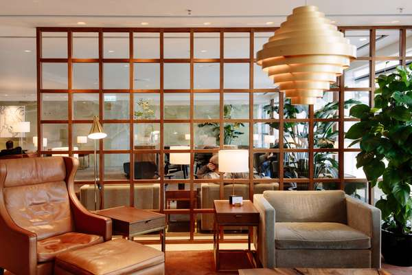 Cathay Pacific first-class lounge at Hong Kong Airport