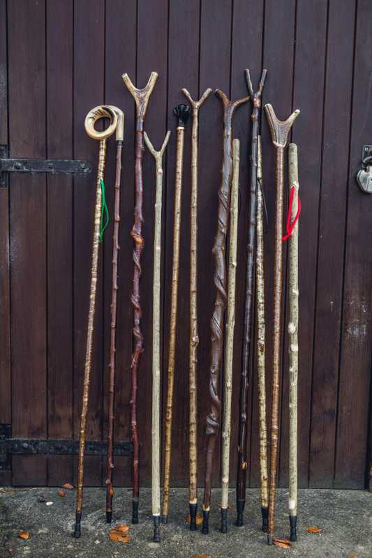 Finished walking sticks