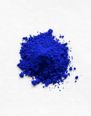 YInMn blue pigment as powder