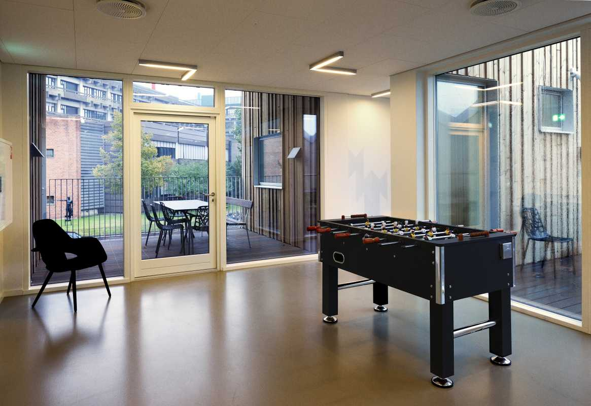 Table football on the first floor